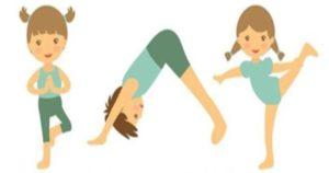 dessin d'enfants posture yoga